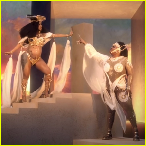 Lizzo & Cardi B Are Golden Goddesses in 'Rumors' Music Video - Watch Now!