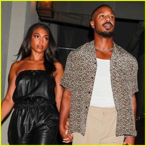 Michael B. Jordan Grabs Dinner with Girlfriend Lori Harvey in West Hollywood