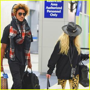 Madonna & Boyfriend Ahlamalik Williams Return to NYC After Celebrating Her 63rd Birthday in Italy