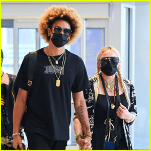 Madonna Holds Hands with Boyfriend Ahlamalik Williams at the Airport - New Photos!
