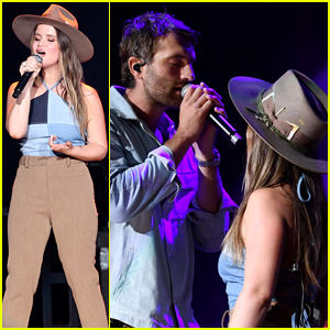 Maren Morris Performs with Ryan Hurd at Country's Big ACM Party Event!
