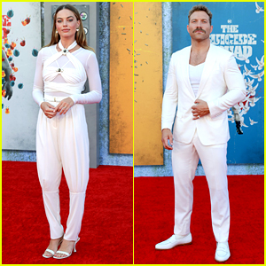 Margot Robbie & Jai Courtney Are Matching in All-White Outfits at 'The Suicide Squad' Premiere!