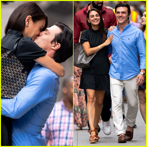 Mila Kunis & Finn Wittrock Share Passionate Kiss While Filming 'Luckiest Girl Alive'