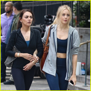 Mila Kunis & Justine Lupe Film Scenes for 'Luckiest Girl Alive' in NYC