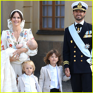 Sweden's Prince Carl Philip & Princess Sofia Pose for Family Photos at Their Son Julian's Baptism