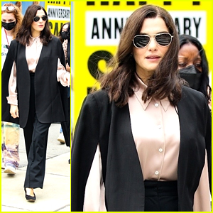 Rachel Weisz Makes A Fashionable Arrival on 'Dead Ringers' Set in NYC