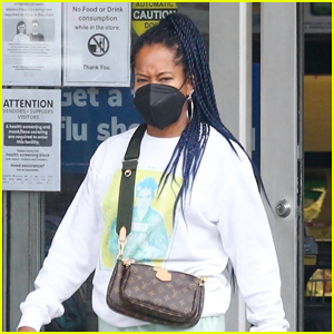 Regina King Stays Safe While Out Grocery Shopping