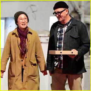 Sandra Oh & Boyfriend Lev Rukhin Grab Dinner in London