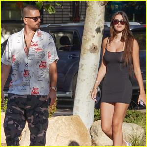 Scott Disick & Girlfriend Amelia Hamlin Step Out for Lunch in Malibu