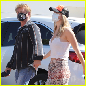 Sean Penn & Wife Leila George Hold Hands While Heading to Lunch in Malibu