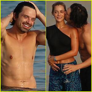 Sebastian Stan Looks So Cute with Girlfriend Alejandra Onieva While Celebrating Birthday in Ibiza!