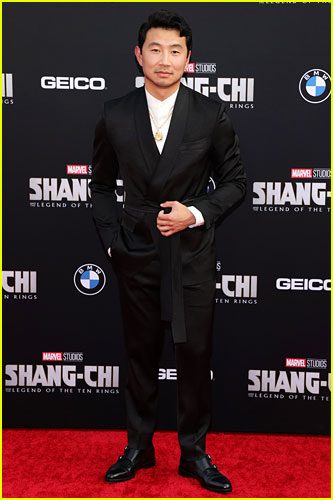 Simu Liu at the premiere of Shang-Chi and the Legend of the Ten Rings