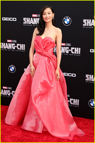 Fala Chen at the premiere of Shang-Chi and the Legend of the Ten Rings