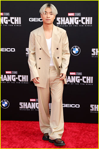 Dallas Liu at the premiere of Shang-Chi and the Legend of the Ten Rings