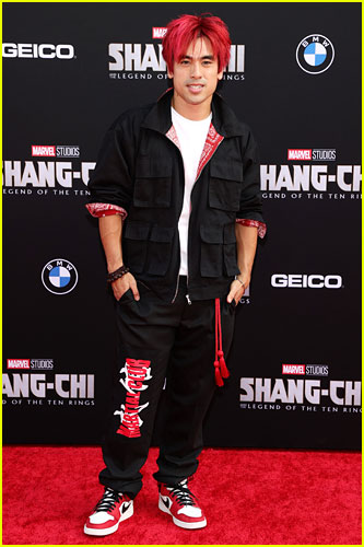 Andy Le at the premiere of Shang-Chi and the Legend of the Ten Rings