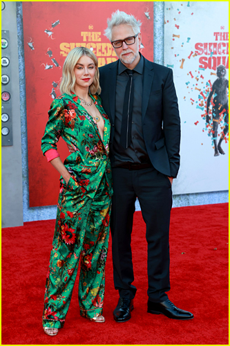 James Gunn and Jennifer Holland at The Suicide Squad premiere