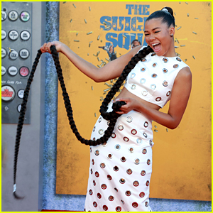 Storm Reid Whips Her Braid Around at 'The Suicide Squad' Red Carpet Premiere!