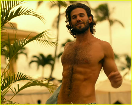 Austin Stowell shirtless in The White Lotus