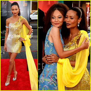 Thandiwe Newton & Daughter Nico Parker Hug It Out at 'Reminiscence' Premiere in LA