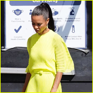 Thandiwe Newton Shines Bright as She Arrives at 'Jimmy Kimmel Live'