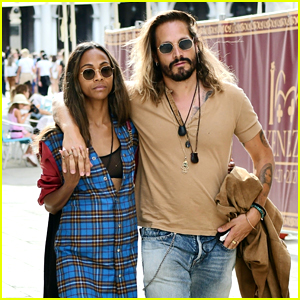 Zoe Saldana & Marco Perego Look Picture Perfect During Trip to Venice