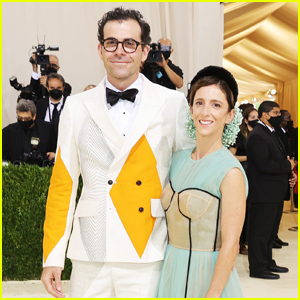 Instagram Head Adam Mosseri & Wife Monica Sport Geometric Outfits for Met Gala 2021