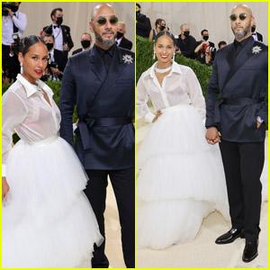 Alicia Keys & Her Husband Swizz Beatz Couple Up for the Met Gala 2021