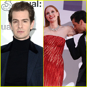 Andrew Garfield Had The Greatest Reaction To Jessica Chastain & Oscar Isaac's Arm Kiss Moment