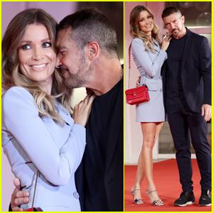 Antonio Banderas & Girlfriend Nicole Kimpel Make Cute Couple at 'Filming Italy Award' Event During Venice 2021