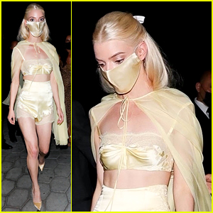 Anya Taylor-Joy Changes Into a Lace Crop Top & Shorts for Emmys 2021 After Party!