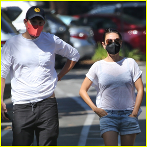 Mila Kunis & Ashton Kutcher Grab Breakfast Together in Studio City