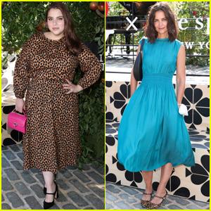Beanie Feldstein & Katie Holmes Arrive in Style for Kate Spade's New York Fashion Week Event!