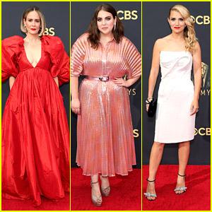 'Impeachment' Stars Sarah Paulson, Beanie Feldstein, & Annaleigh Ashford Look Lovely at Emmy Awards 2021