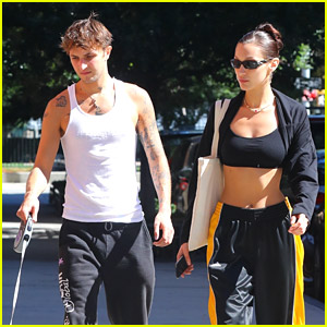 Bella Hadid Hangs Out With Brother Anwar in NYC