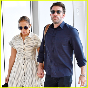 Ben Affleck & Jennifer Lopez Kiss, Hold Hands While Leaving Venice Together - New Photos!