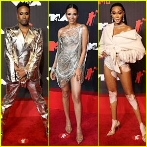 Billy Porter Rocks A Shiny Suit on the MTV VMAs Red Carpet