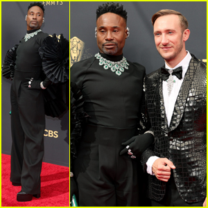 Billy Porter & His Husband Adam Smith Strike a Pose on the Emmys 2021 Red Carpet