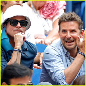 Brad Pitt & Bradley Cooper Went to the U.S. Open Finals Together - And Joined Another Oscar Winner!