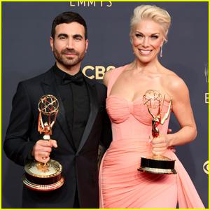 'Ted Lasso' Stars Brett Goldstein & Hannah Waddingham Celebrate Their Emmys 2021 Wins!