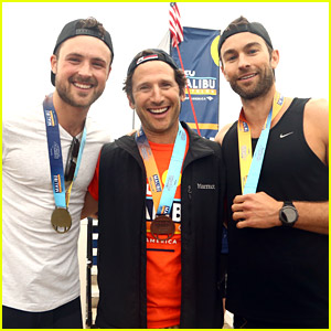 Chace Crawford & Dylan Efron Compete in the Malibu Triathlon With Max Greenfield