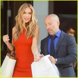 Chrishell Stause & Boyfriend Jason Oppenheim Do Some Shopping Before Grabbing Dinner in Weho