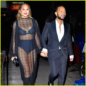 Chrissy Teigen Wears Sheer Dress For Late Night Dinner Date With John Legend After The Tonys