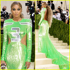 Ciara Wears Husband Russell Wilson's Number on Football Inspired Gown For Met Gala 2021