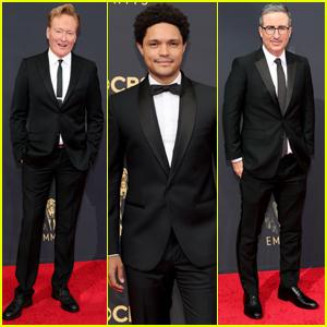 Trevor Noah, Conan O'Brien & John Oliver Step Out for the Emmys 2021