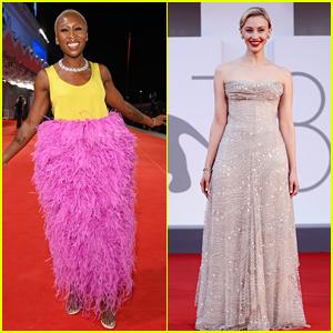 Cynthia Erivo & Sarah Gadon Dress Up for More Premieres at Venice Film Festival