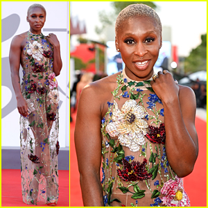 Cynthia Erivo Wears Sheer Floral Gown at Closing Ceremony of Venice Film Festival 2021