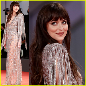 Dakota Johnson Wows in Sheer Dress at Venice Premiere, Walks Carpet with Her Two Dates!