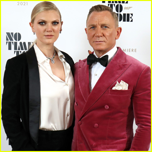 Daniel Craig Makes Extremely Rare Red Carpet Appearance with Daughter Ella Loudon at 'No Time to Die' Premiere