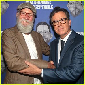 'Late Show' Hosts David Letterman & Stephen Colbert Reunite in Rare Pic