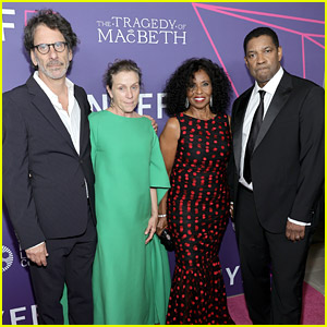 Denzel Washington Joins Frances McDormand & Cast For 'The Tragedy of Macbeth' Premiere